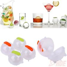 "4 Pack - 2"" Ice Cube Ball Mould Tray Bar Party Sphere Party Cocktails Mold Maker"