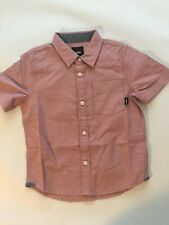 Vans New Gibbon Short Sleeve Button Down Shirt Youth Boy's Size 5/M