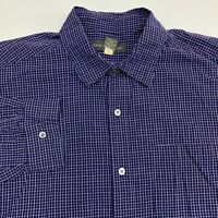 Banana Republic Button Up Shirt Men's Large Long Sleeve Navy Purple White Cotton