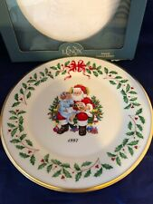 """Lenox China Annual Limited Edition Holiday Collector Plate 1997 """"Christmas List"""""""