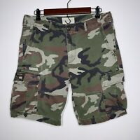 Mens Ralph Lauren Denim & Supply Camo Cargo Shorts Size 32 Distressed