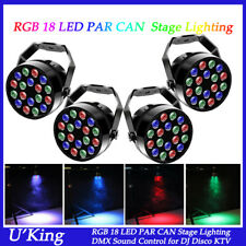 4X 36W 18LED RGB PAR CAN Light DMX512 Uplighting Disco DJ Party Stage Lighting