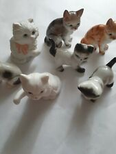 Lot Of 7 Decorative Cat Figurines - Homco - Other Brands - Japan