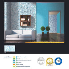 SKY BLUE-WHITE POLYMER-BASED LIQUID INTERIOR WALLPAPER SILK COATING PAINT