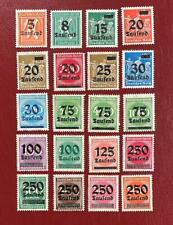 1923 German  Stamps DEUTSCHES REICH  MC 277 - 296   vintage