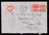 GB KGV 1933 2 1/2d cover to France with 30c Postage Due WS6891