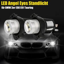 Pair LED Angel Eyes Standlicht Ringe Touring Marker für BMW 3er E90 E91 40W Weiß