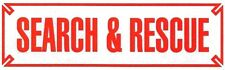 """SEARCH AND RESCUE Highly Reflective Vehicle Decal - RED Letters - size: 3"""" x 10"""""""