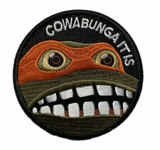 "TMNT COWABUNGA It Is Turtle patch [""Velcro Brand"" Fastener - 3.0 inch -T4]"