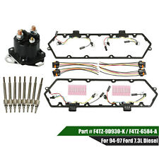 Valve Cover Gasket & Glow Plugs & Relay Kit For 94-97 Ford 7.3L Powerstroke