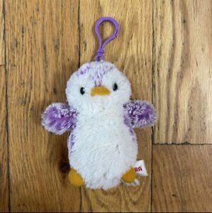 "Aurora 5"" Purple Penguin Plush Bag Charm Keychain Stuffed Animal"