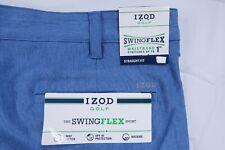 NWT IZOD GOLF SWING FLEX FLASH MENS 34 BLU STRETCH PERFORMANCE TECH SHORTS UPF40