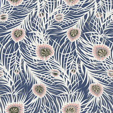 Fat Quarter Liberty Piper's Peacock Blue Cotton Quilting Sewing Fabric