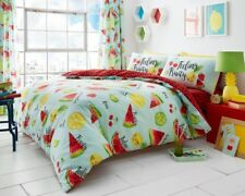 NEW King Tutti Fruitti Fruit Printed Duvet Set Cover Pillowcases