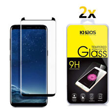 2X KS For Samsung Galaxy S9 3D Full Cover Tempered Glass Screen Protector -Black