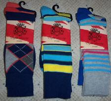 NEW English Laundry 6 PAIRS Mens Socks - Argyle Polka Dot Stripes Checkered