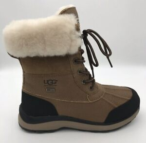 UGG Adirondack III Chestnut Leather Fur Boots Womens  Rain Snow Boots *NIB***