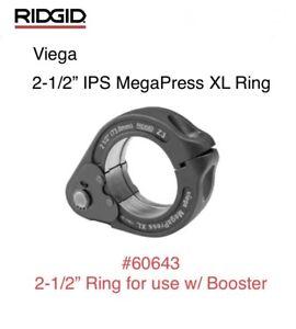 "60643 Ridgid 2-1/2"" IPS Viega MegaPress XL Ring Jaw Only For Booster Press Tool"