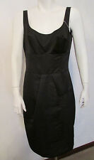 $695  ARMANI COLLEZIONI LBD little black dress bow front faux wrap skirt s 8 NEW