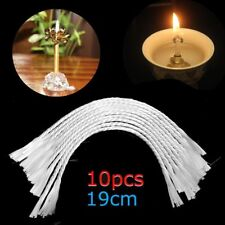 "7.5"" Replacement White Fiberglass Wick Holders Oil Candle Wicks 3mm Width"