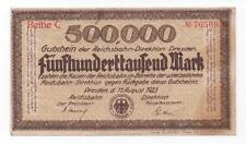 GERMANY DRESDEN 500000 MARK 1923 LOOK SCANS