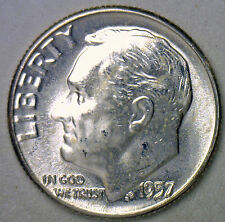 1961 Silver UNCIRCULATED BU Roosevelt Dime Ten Cent Coin from Nice 10c Roll #R