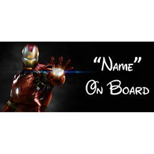 Marvel ironman personnalisé bébé à bord voiture signe (7)