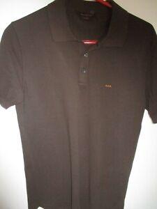 "Classic Small Brown ERMENEGILDO ZEGNA ""Couture"" 100% Cotton Polo Shirt"