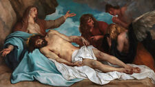"""perfect 48x24 oil painting handpainted on canvas""""Death of Jesus""""N7617"""