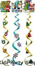 Christmas Party - 3 Hanging Christmas Decorations - Free Post in UK