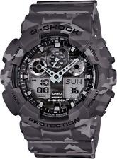 Casio G Shock GA100CM-8A Men's Analog & Digital Camouflage Grey Band Watch