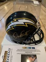 Dan Fouts Autographed/Signed Mini Helmet COA San Diego Chargers LA HOF