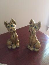 "Pair of Vintage Scotty Scottie Scottish Terrier Dogs Figurine 3"" Tall. Japan"