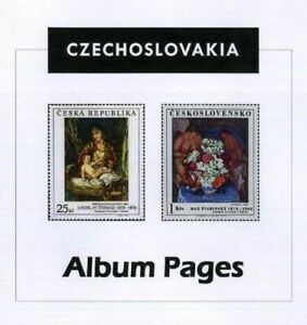 Czechoslovakia CD-Rom Stamp Album 1918-2016 Color Illustrated Album Pages