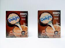 Two  24pk International Delight Hershey Chocolate Caramel Coffee Creamer
