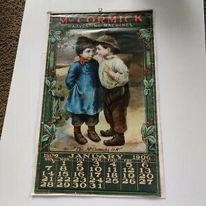 Original 1906 International Harvesting Machines Calendar McCormick Vintage