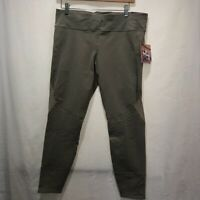JoyLab Womens 7/8 Leggings Pants True Khaki Mid Rise Hidden Key Pocket XL New