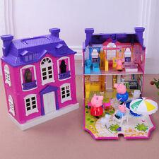 Peppa Pig Purple house Villa with 4pcs figures Girls Kids Xmas Gift