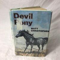 Devil Pony Matt Christopher Lorence Bjorklund VTG Horse Poltergeist Book 1977 HC