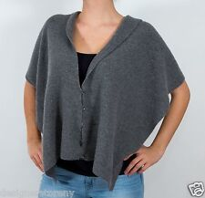 Cruciani 100% Cashmere Knitted grey button vest scarf MSRP $625
