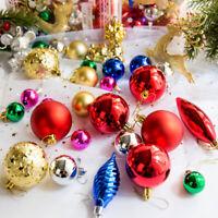 AU_ FT- 30Pcs Christmas Tree Ball Decoration Xmas Hanging Party Baubles Ornament