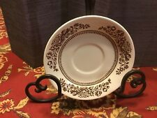 Royal Sussex Cavalier Ironstone W/brown Flowers, 1 Bowl, 2 Saucers