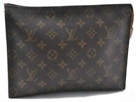 Authentic Louis Vuitton Monogram Poche Toilette 26 Cosmetics Pouch LV A8601