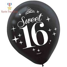 Sweet Sixteen 16 Birthday Celebration Printed Balloons Party Decoration 6 Pack