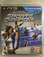 Sports Champions (Sony PlayStation 3,2010) new factory sealed ps3
