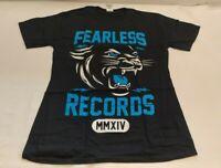 Mens T shirt Official Mens Fearless Records Cougar T-Shirt Pop punk Medium N