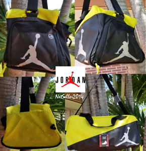 🆕🔥Jordan Air Jumpman Elemental Duffle Bag Yellow Elephant Print Dry/Wet Pocket