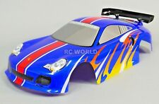 1/10 RC Car BODY Shell PORSCHE TURBO GT3 200mm Fits HPI *PRE- FINISHED* BLUE