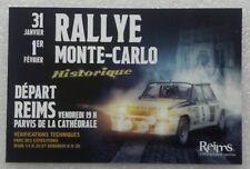 Carte postale Rallye Monté Carlo Historique 2019 départ de Reims Renault 5 turbo