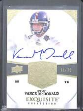 2013 Upper Deck Exquisite Rookie Autograph #104 Vance McDonald No 68 of 70